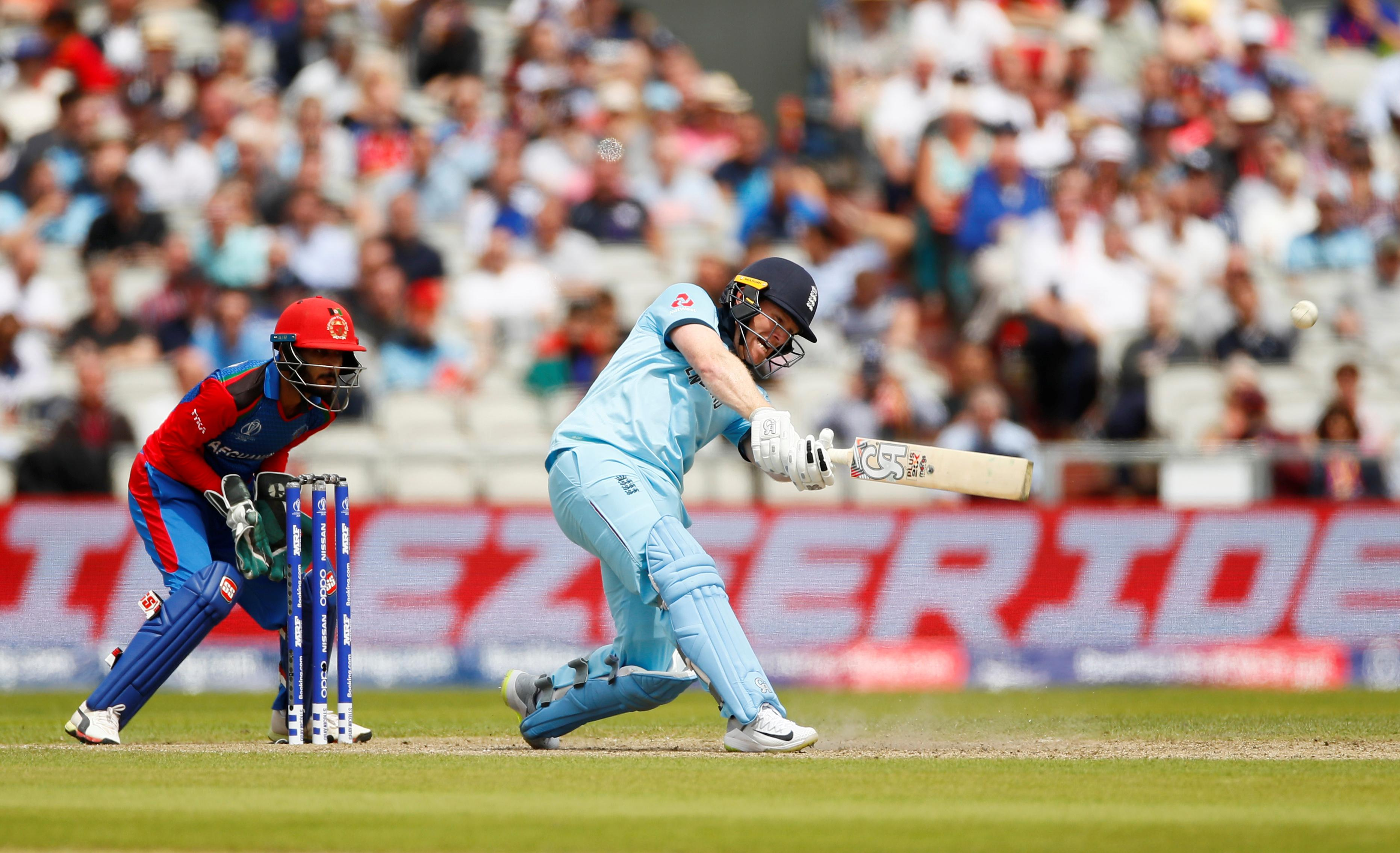 Morgan's record-breaking six-fest helps England crush Afghanistan