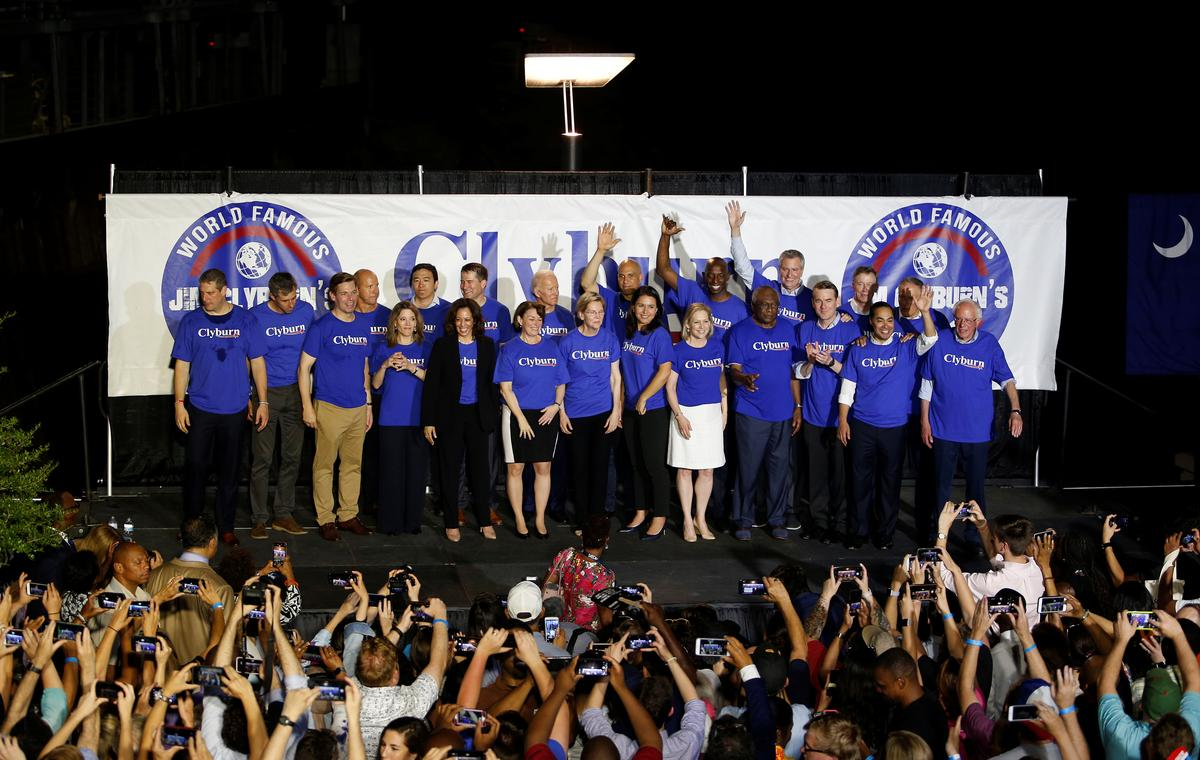 Democratic presidential hopefuls seek black support at South Carolina fish fry
