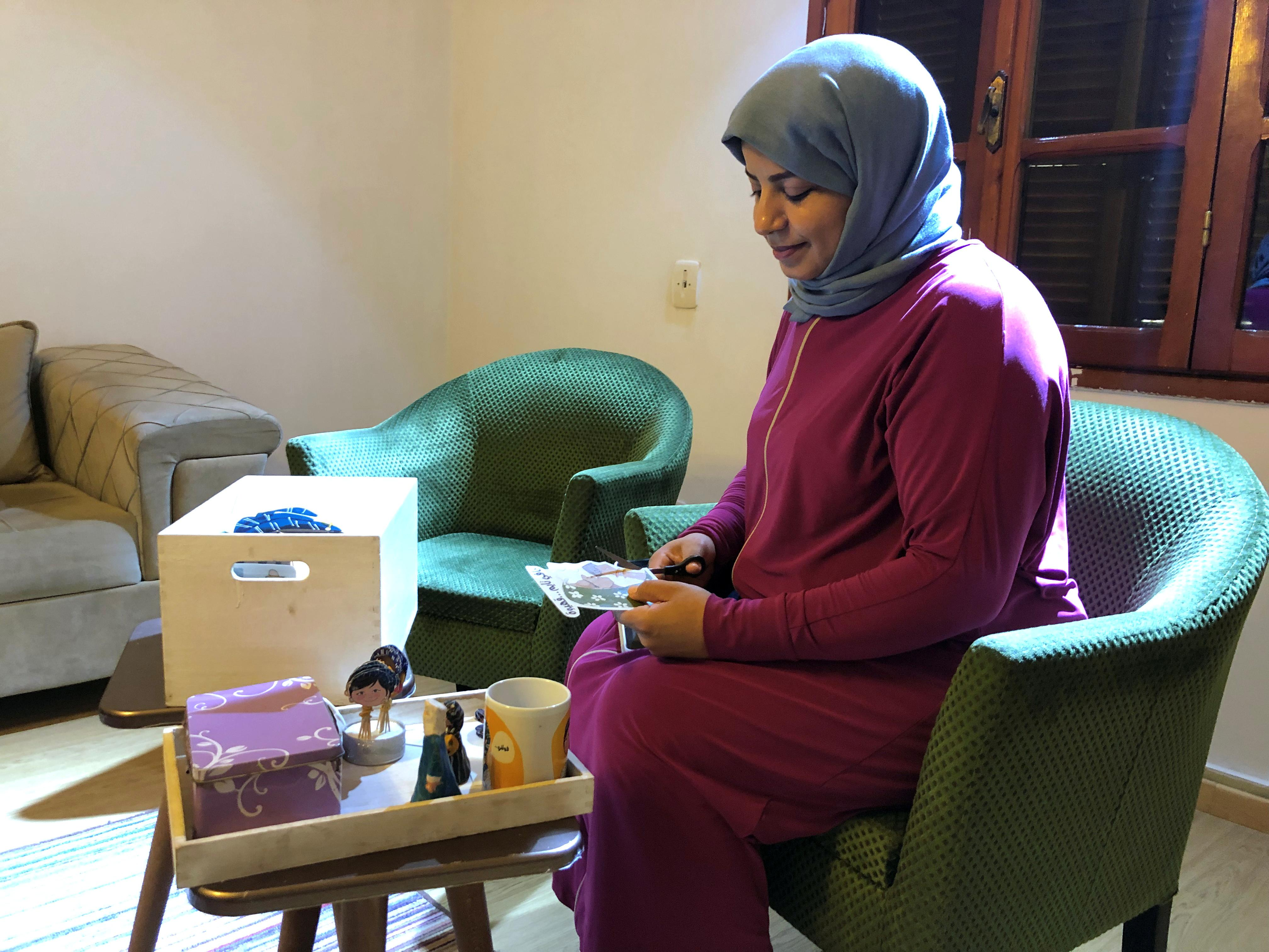 Selling sketches and clothes, Libyan women set up businesses against the odds