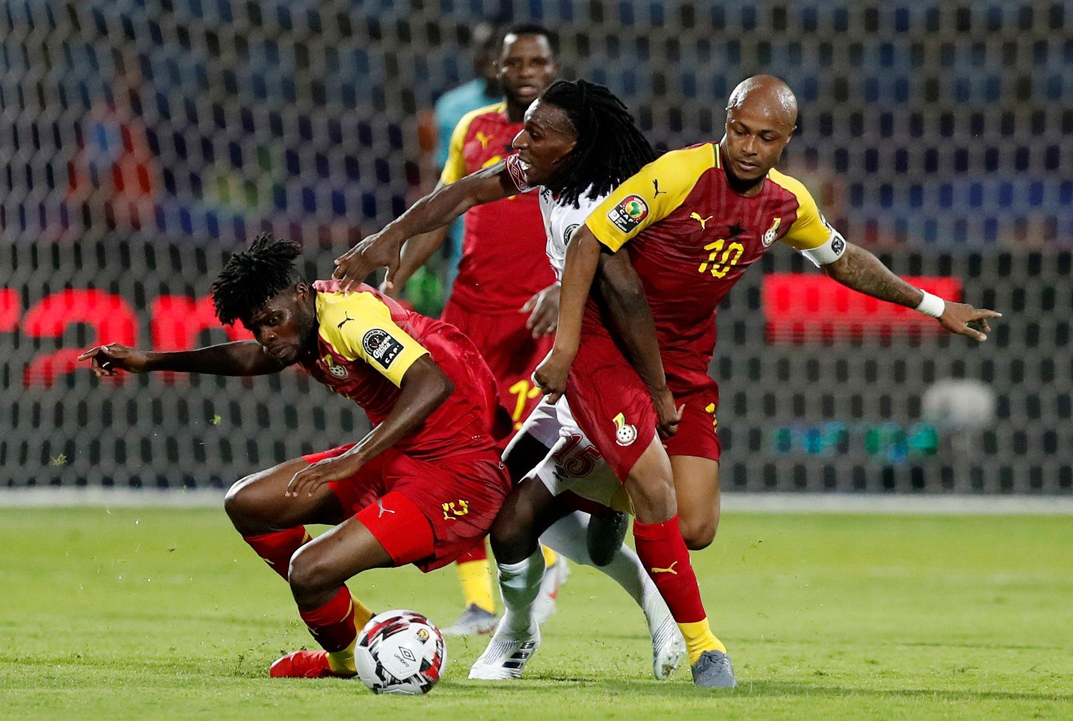 Benin hit back to draw with Ghana after bizarre red card