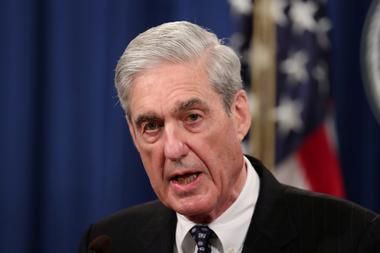 FILE PHOTO: U.S. Special Counsel Robert Mueller makes a statement on his...