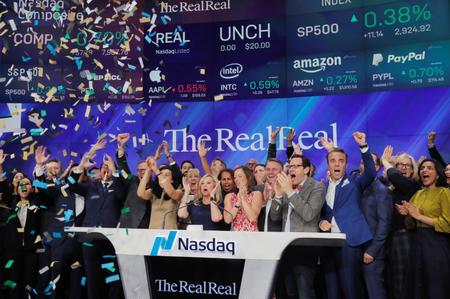 Luxury online reseller The RealReal closes up more than 40% in debut