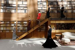 Chanel's library couture in Paris