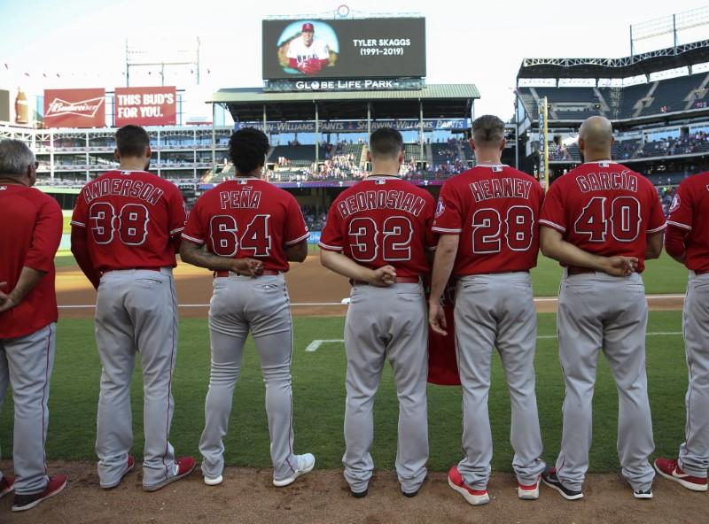Image result for angels mourn tyler skaggs