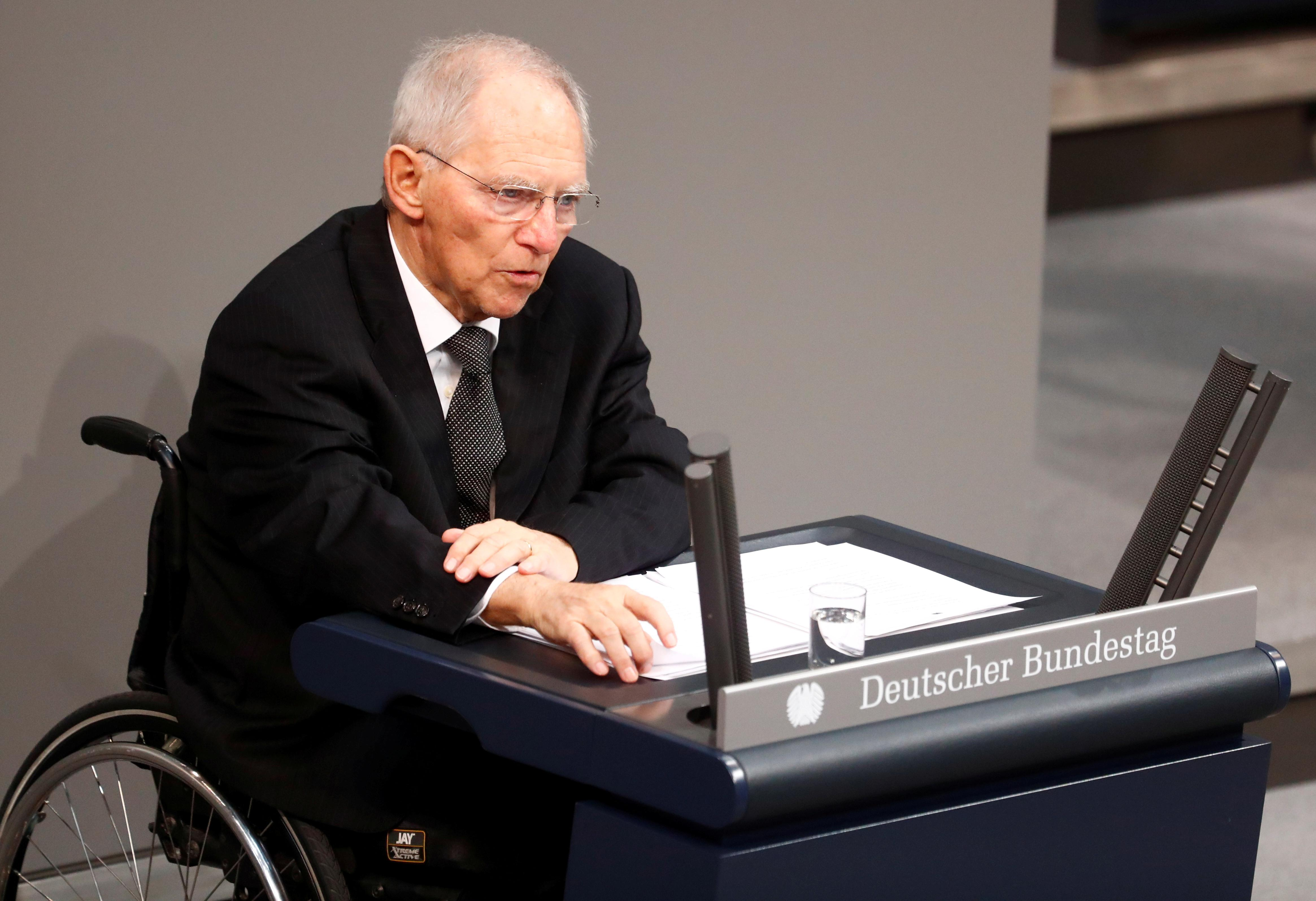 Merkel ally Schaeuble says her CDU could govern alone if SPD quits coalition