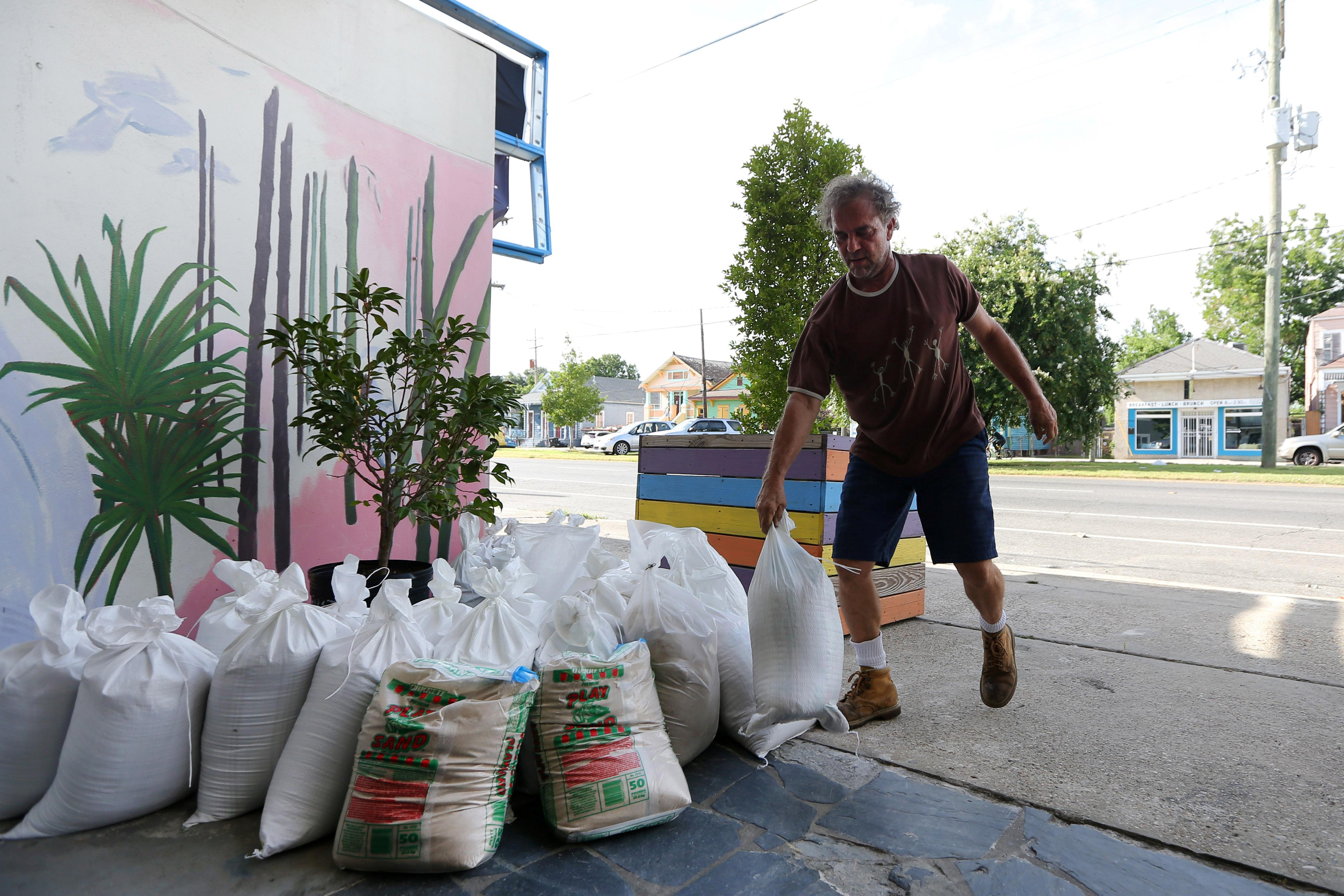 La tempête tropicale Barry à proximité de la Nouvelle-Orléans