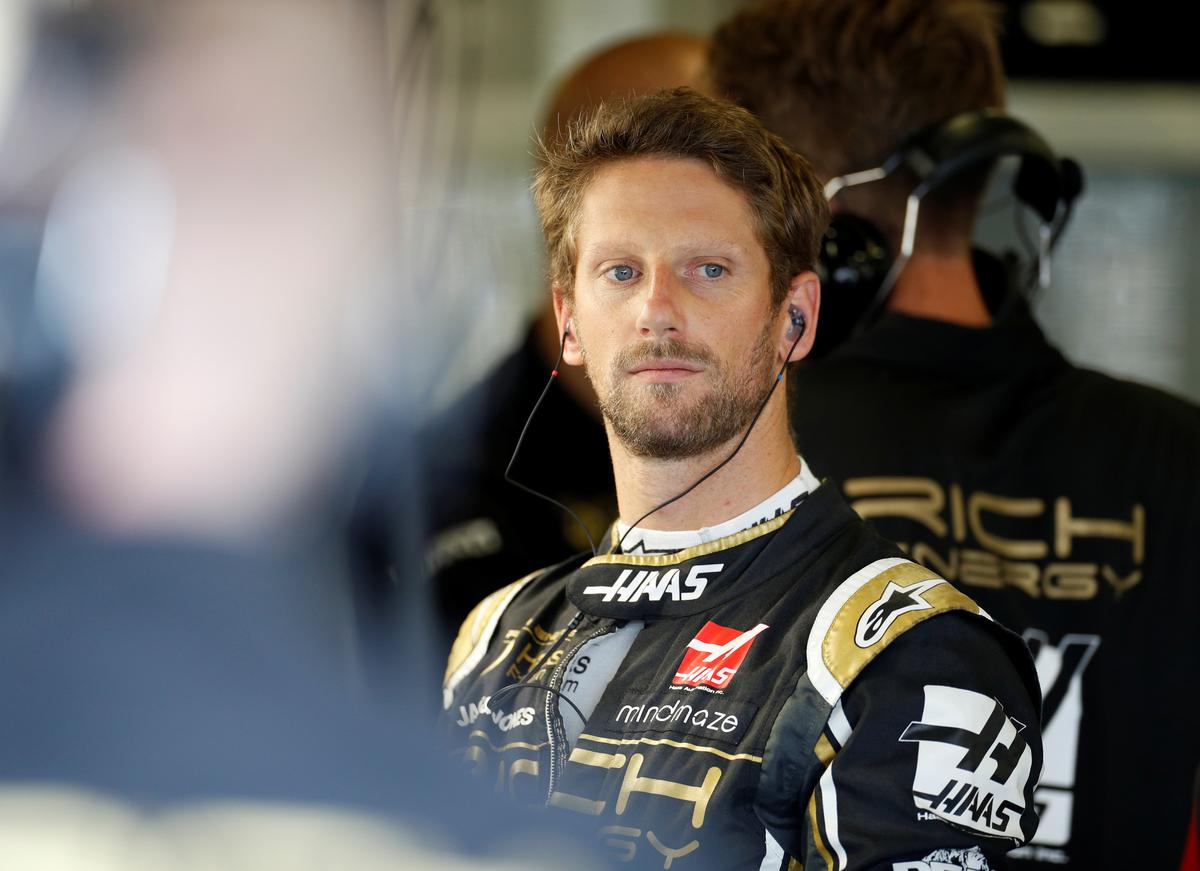 Grosjean makes light of pitlane spin