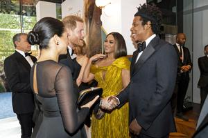 Meghan and Harry greet Beyonce and Jay-Z at 'Lion King' premiere