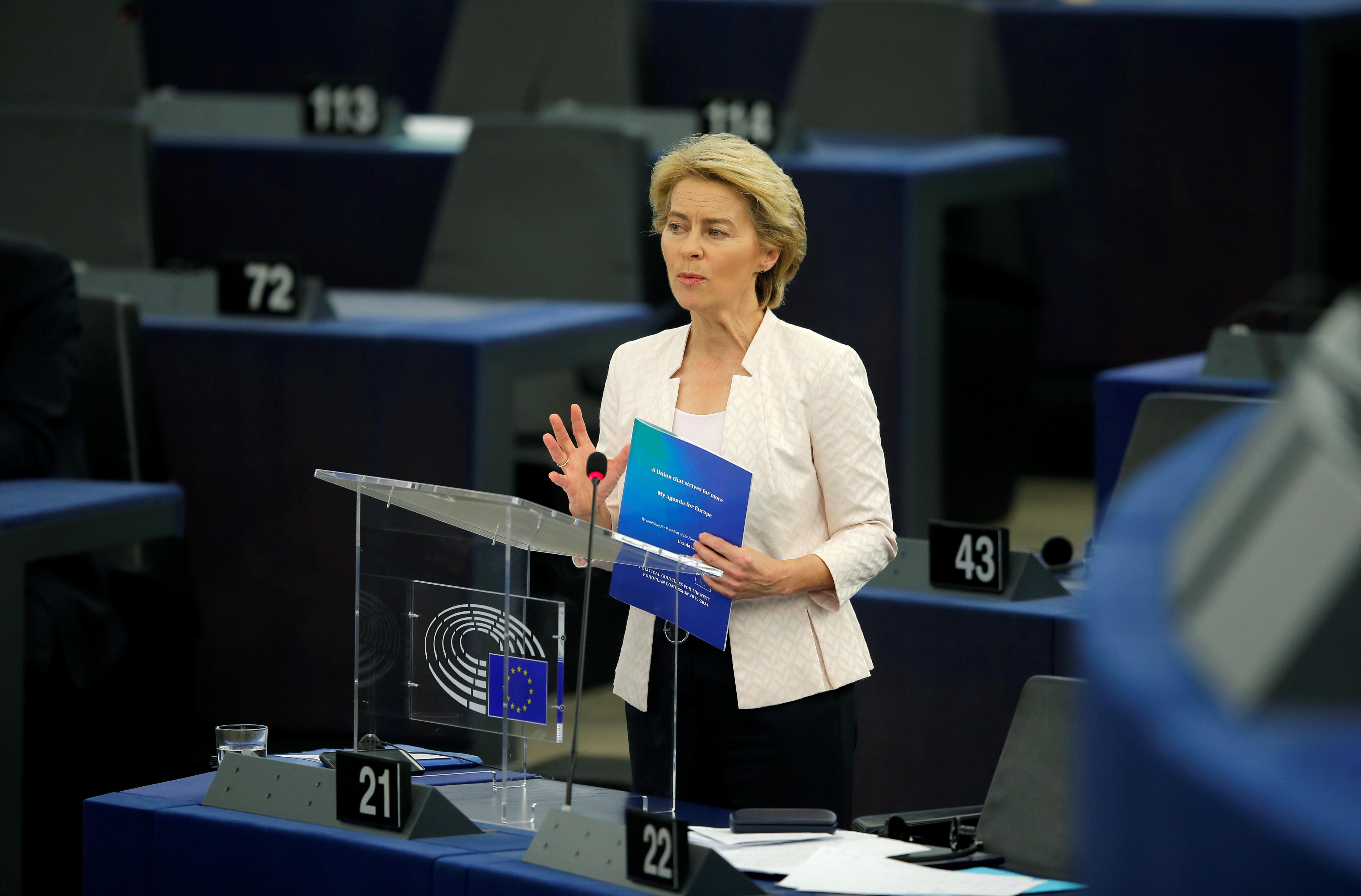 Von der Leyen takes aim at U.S. tech giants' low tax bill in Europe