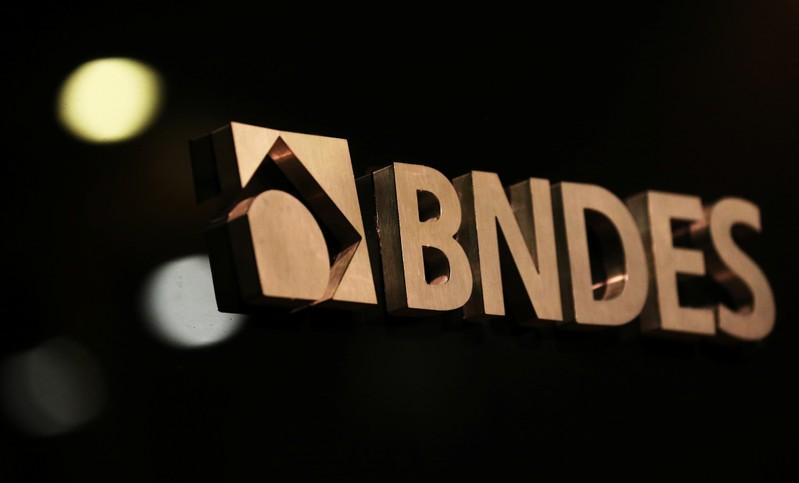 A logo of Brazilian National Development Bank (BNDES) is seen during a swearing-in ceremony of the bank's new president, in Rio de Janeiro, Brazil, January 8, 2019. Sergio Moraes
