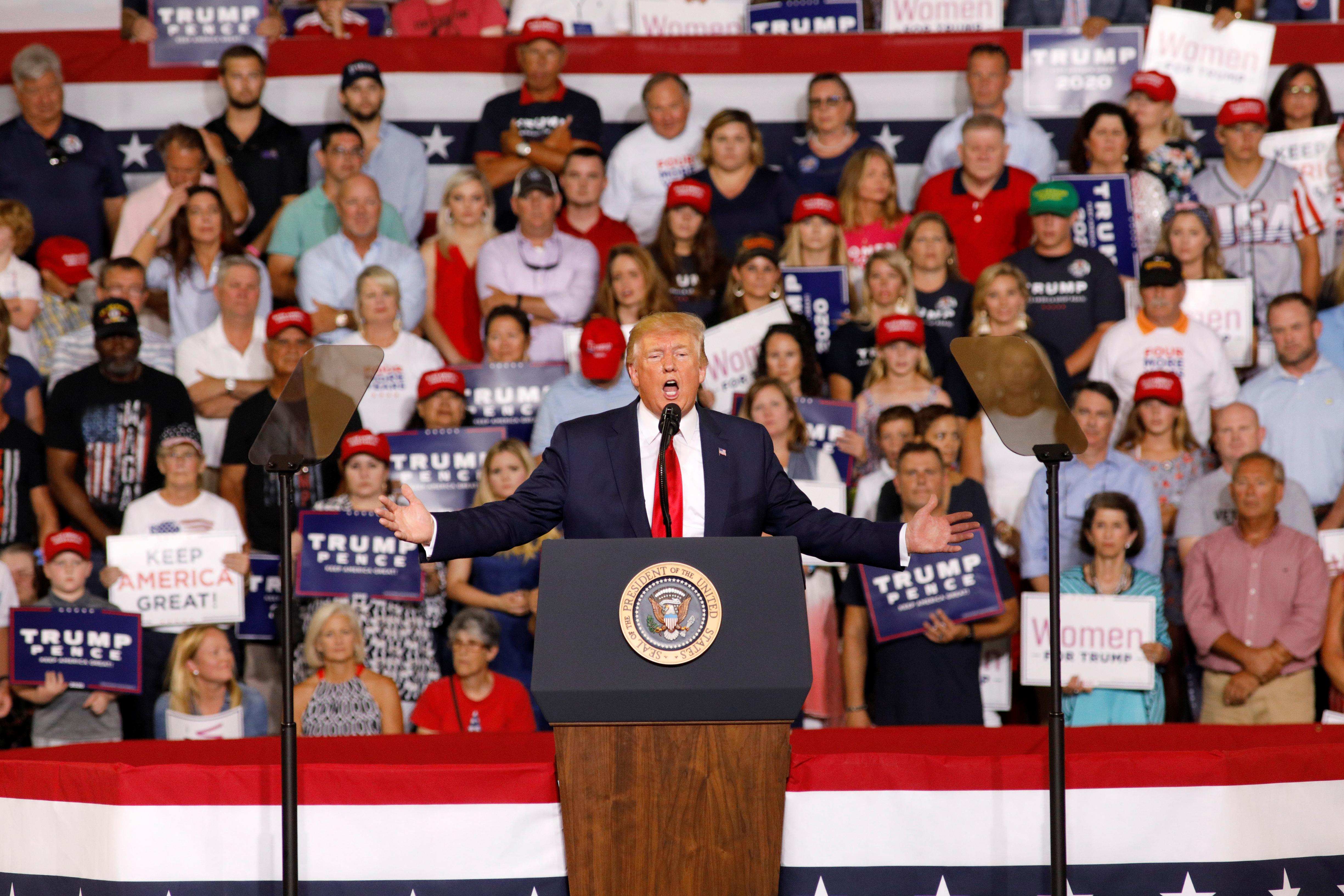 Trump disavows 'send her back' rally chant, many Republicans alarmed