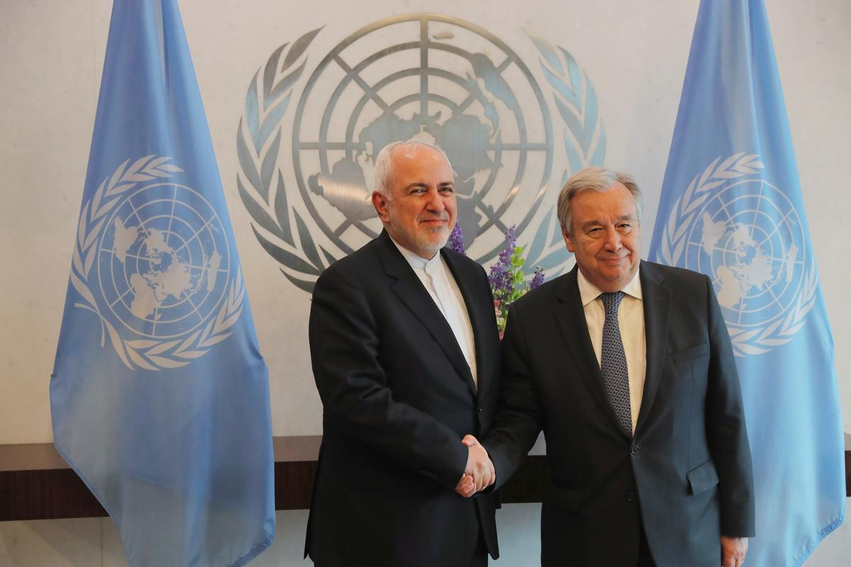 Iran's foreign minister, U.N. secretary-general meet in New York: IRNA