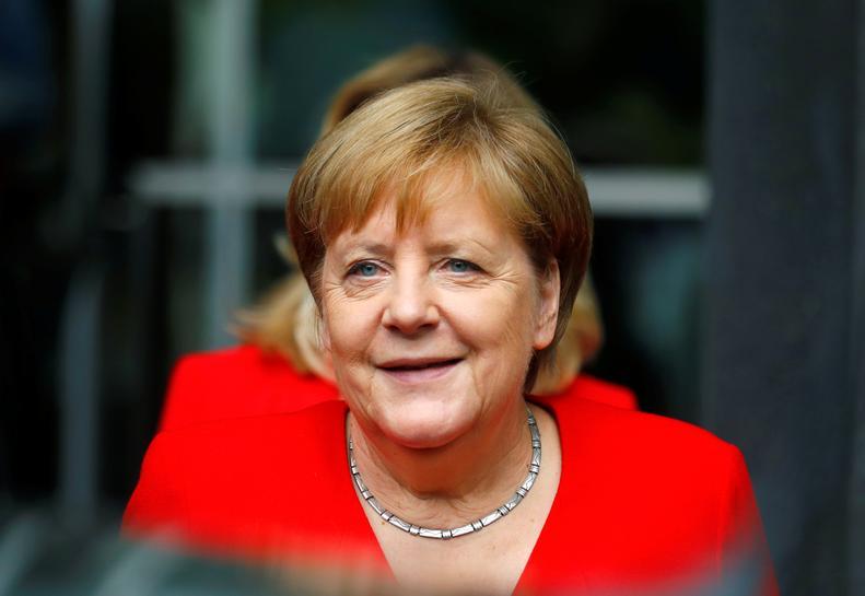 Merkel sees scope in declaration for Irish backstop to be overwritten