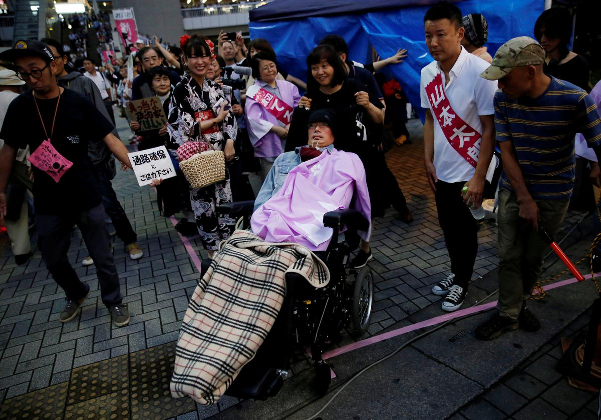 Two severely-disabled candidates win seats in Japan upper house vote