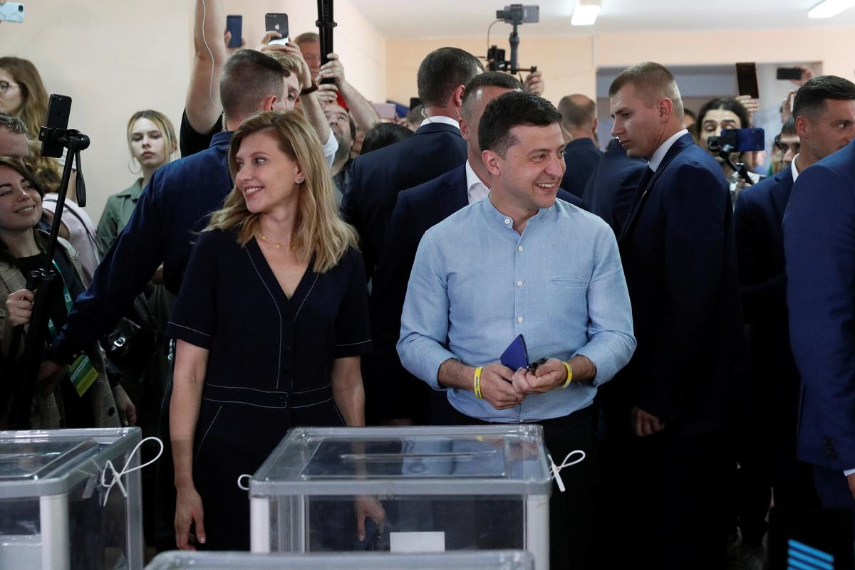 Ukraine president's party leads in parliament election: exit poll