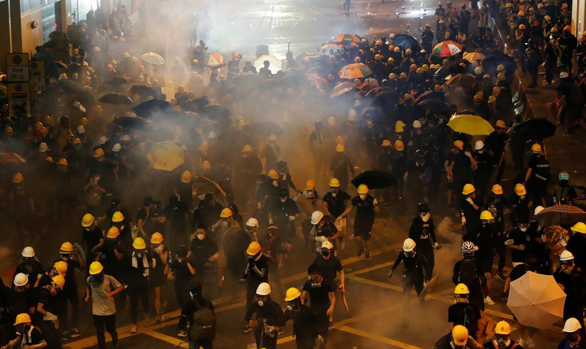 China tells U.S. to remove 'black hands' from Hong Kong
