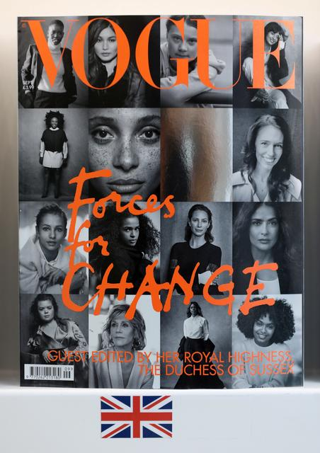 Readers line up for copy of British Vogue edited by UK's