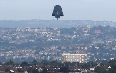 Darth Vader balloon takes to the skies above England