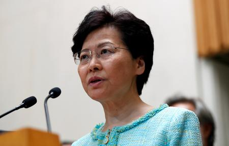 Hong Kong leader Carrie Lam says protests have hit business like a 'tsunami'
