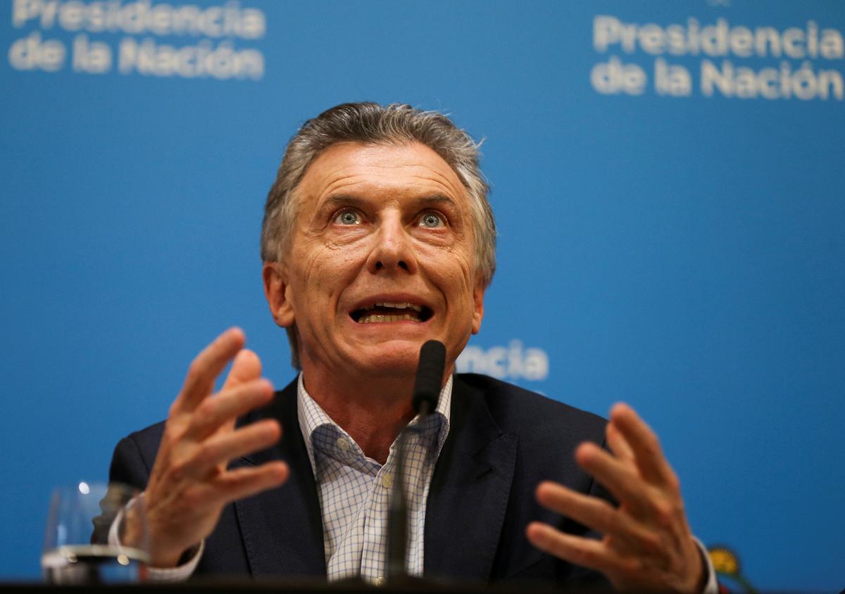 Argentina's Macri shelves sales taxes as he seeks to cut left's lead