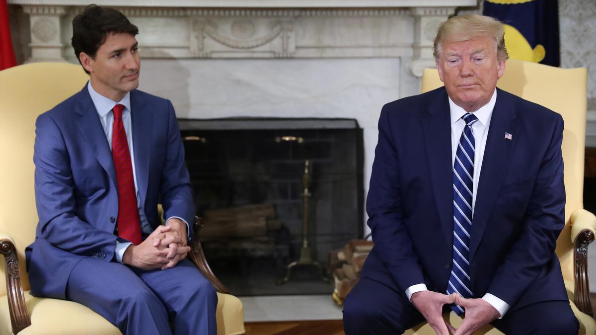 Trump bespreek China se 'onregmatige aanhouding' van Kanadese burgers in gesprek met Trudeau
