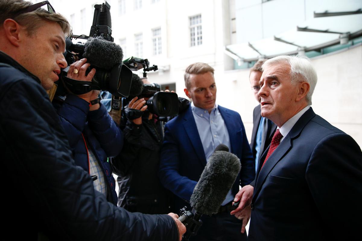 Die Britse parlement moet onmiddellik herroep vir Brexit: Labour's McDonnell