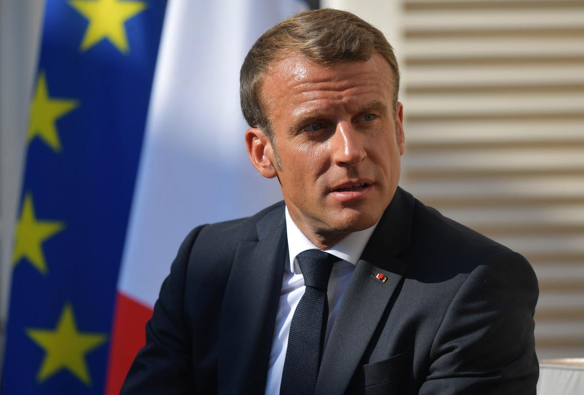 Frankryk se Macron sê Brexit is nie die skuld van Brittanje nie