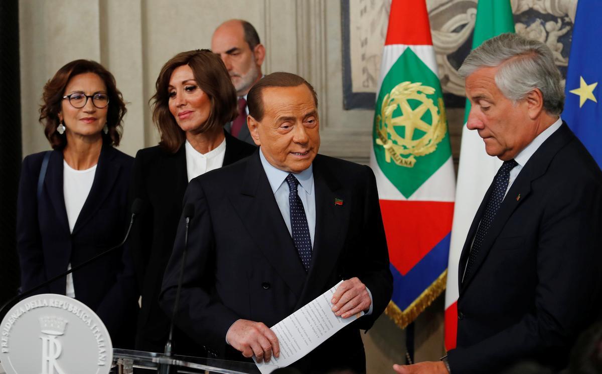 Berlusconi, Italië, sê sy party wil vinnig stem ná gesprekke met die president