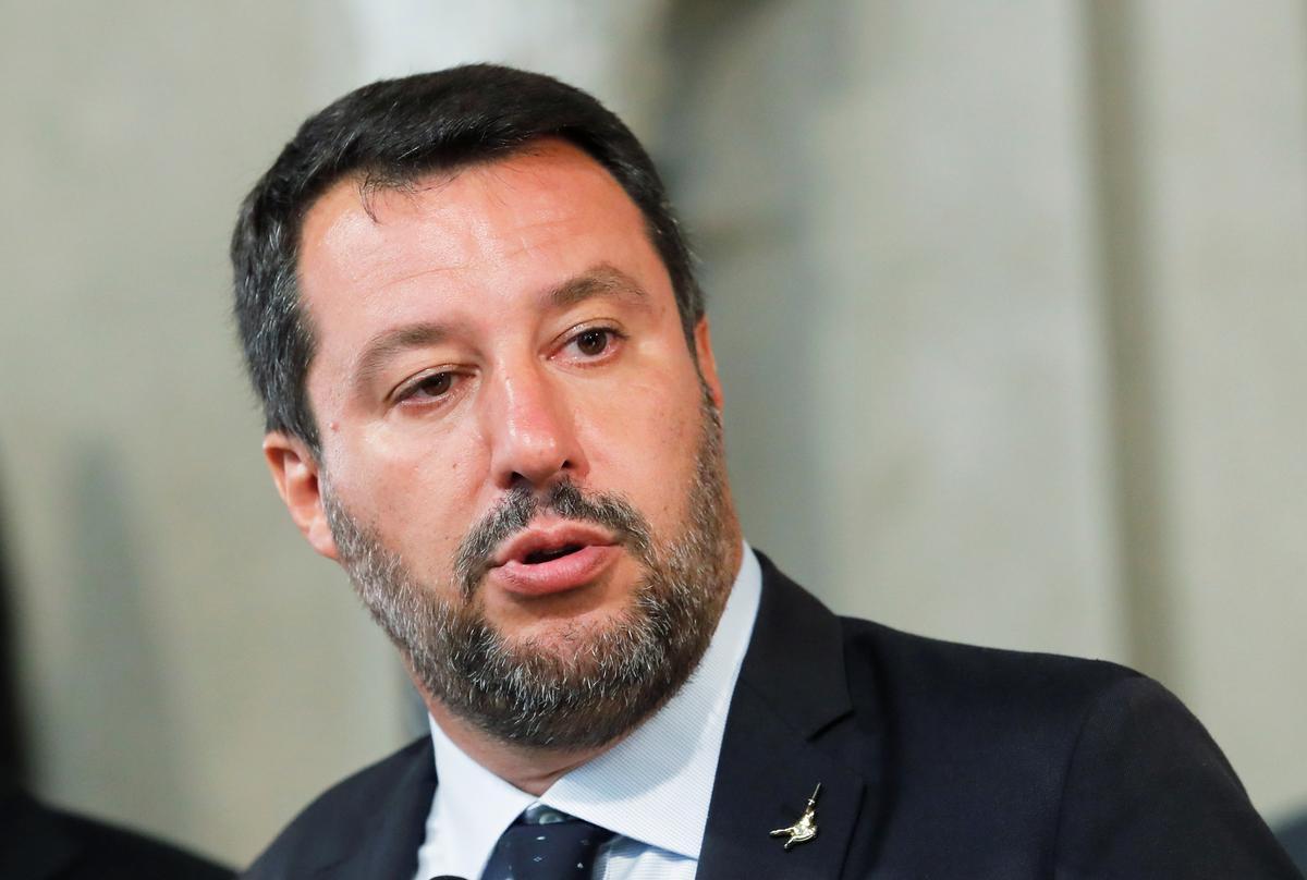 Salvini, Italië, hou die deur oop vir moontlike nuwe regering met 5-ster