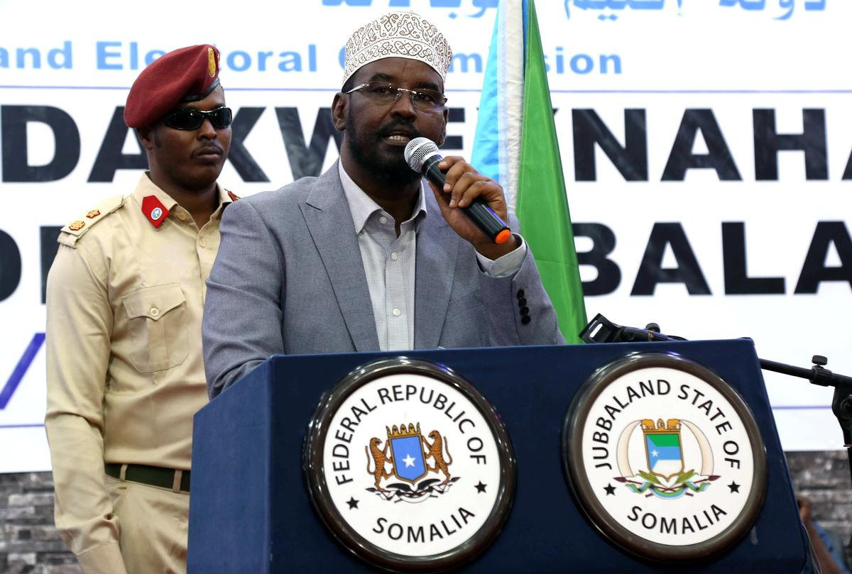 Leier van Somalië se Jubbaland, in stryd met Mogadishu, wen 'n nuwe termyn