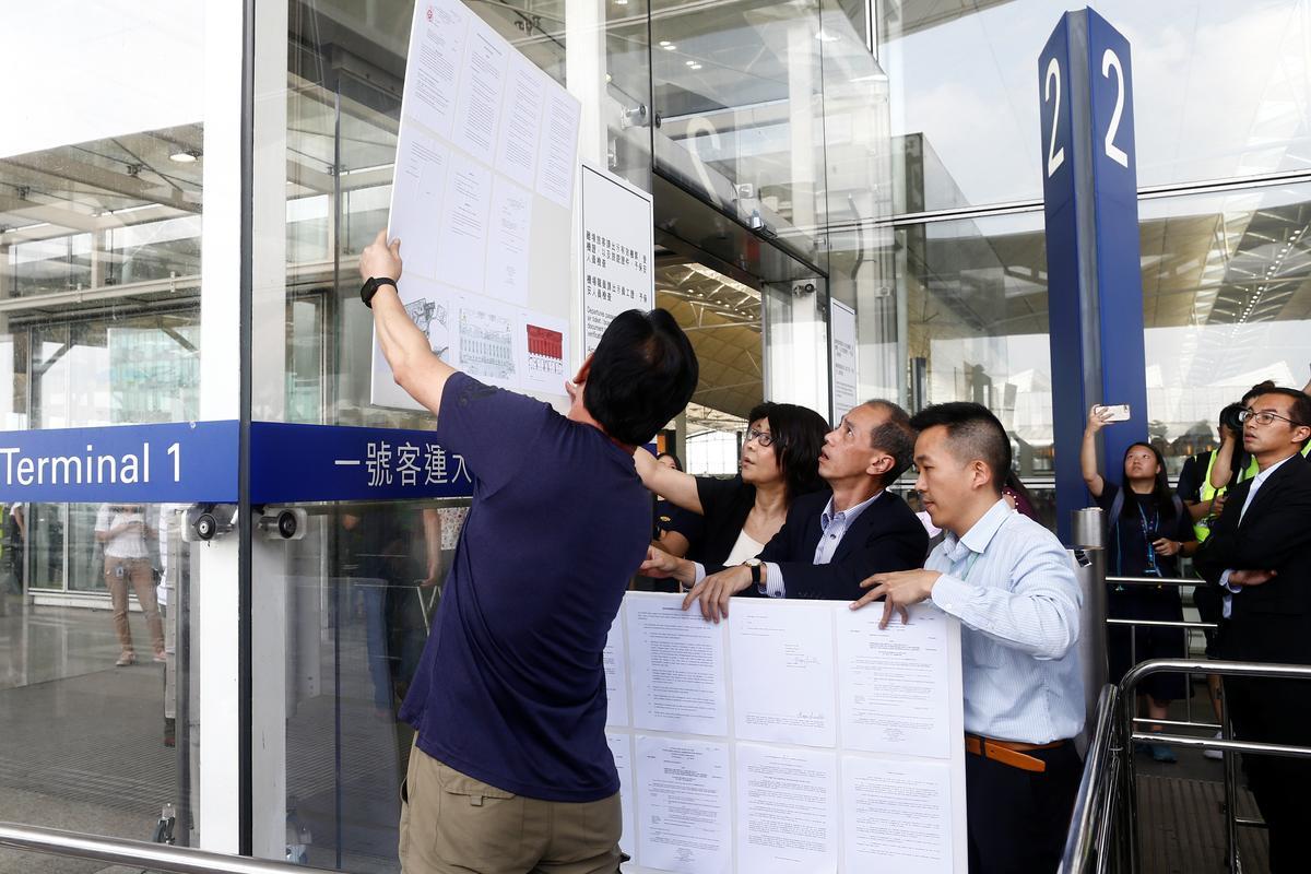 Die Hong Kong-lughawe is in die naweek protes aangeteken ná die chaos van verlede week