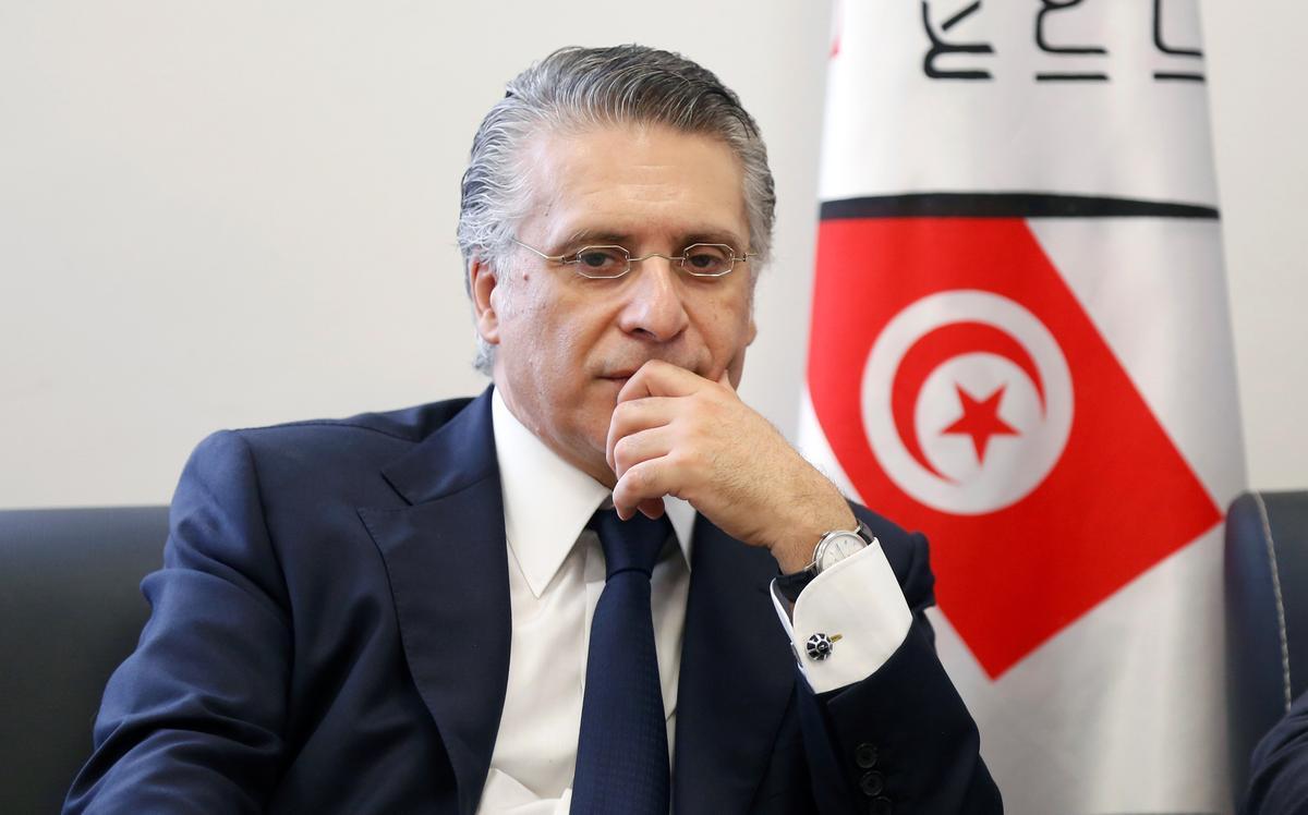 Die Tunisiese presidentskandidaat Karoui word aangehou weens aanklagte van belastingontduiking: media