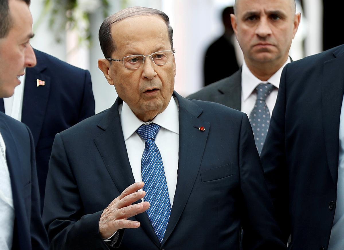 President Aoun van Libanon vergelyk Israeliese drones met 'oorlogsverklaring'