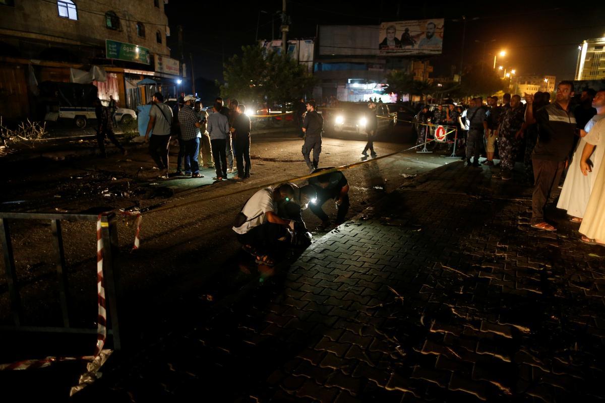 Ontploffings het die polisie-besoekpunte van die Gasa getref, twee dood: amptenare