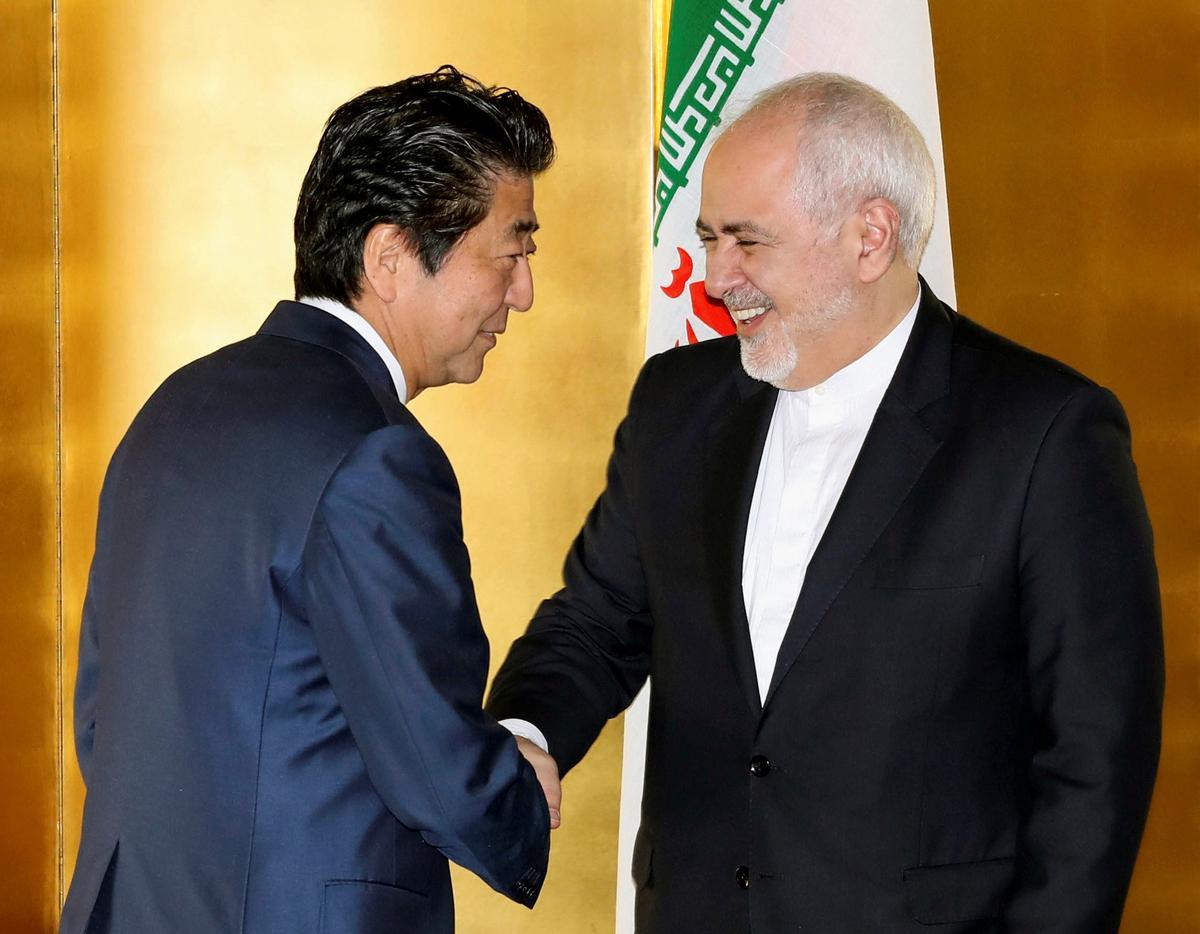 Iran se Zarif tot premier van Japan: ons soek nie verhoogde spanning nie