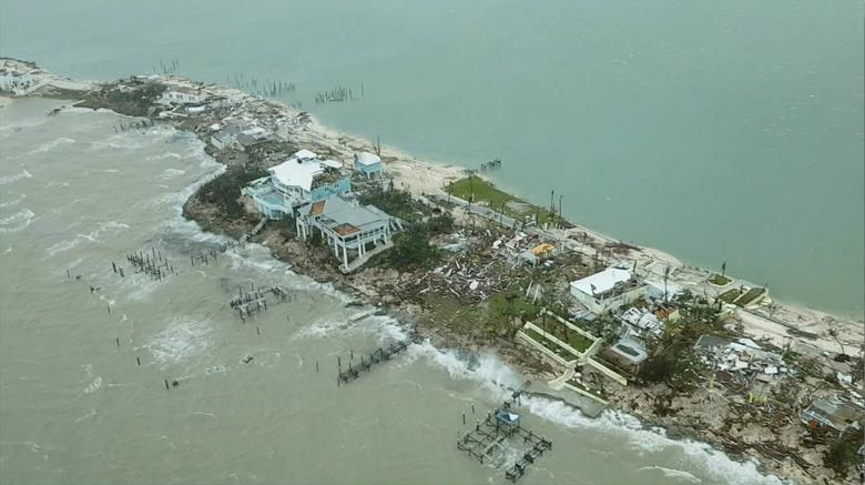 An aerial view shows devastation after Hurricane Dorian hit the Abaco Islands in the Bahamas, September 3, 2019. Terran Knowles/Our News Bahamas/via REUTERS
