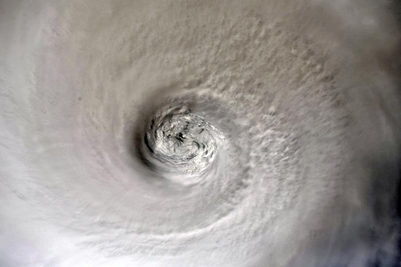 The eye of Hurricane Dorian is shown from the International Space Station orbiting more than 200 miles above the earth, as it churns in the north-western Caribbean nearing the United States mainland, September 2, 2019. Christina Koch/NASA/Handout via REUTERS