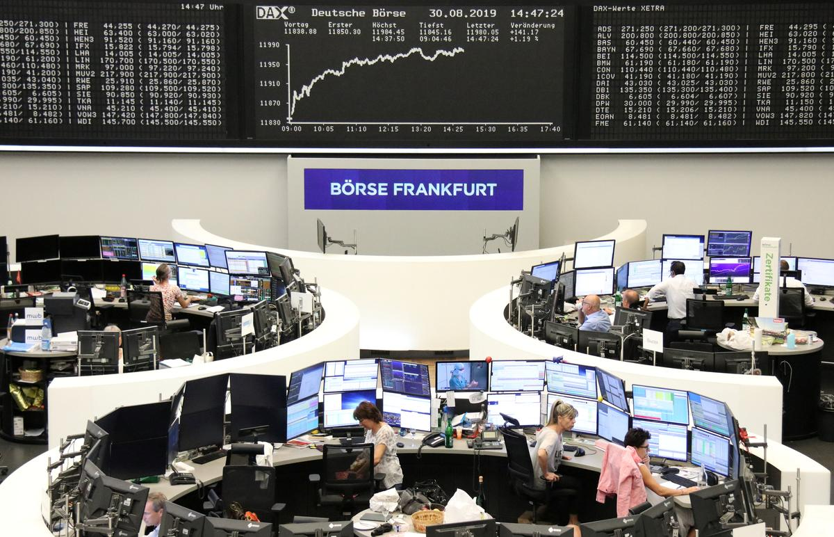 Easing political worries in Europe lift shares, pound jumps 2