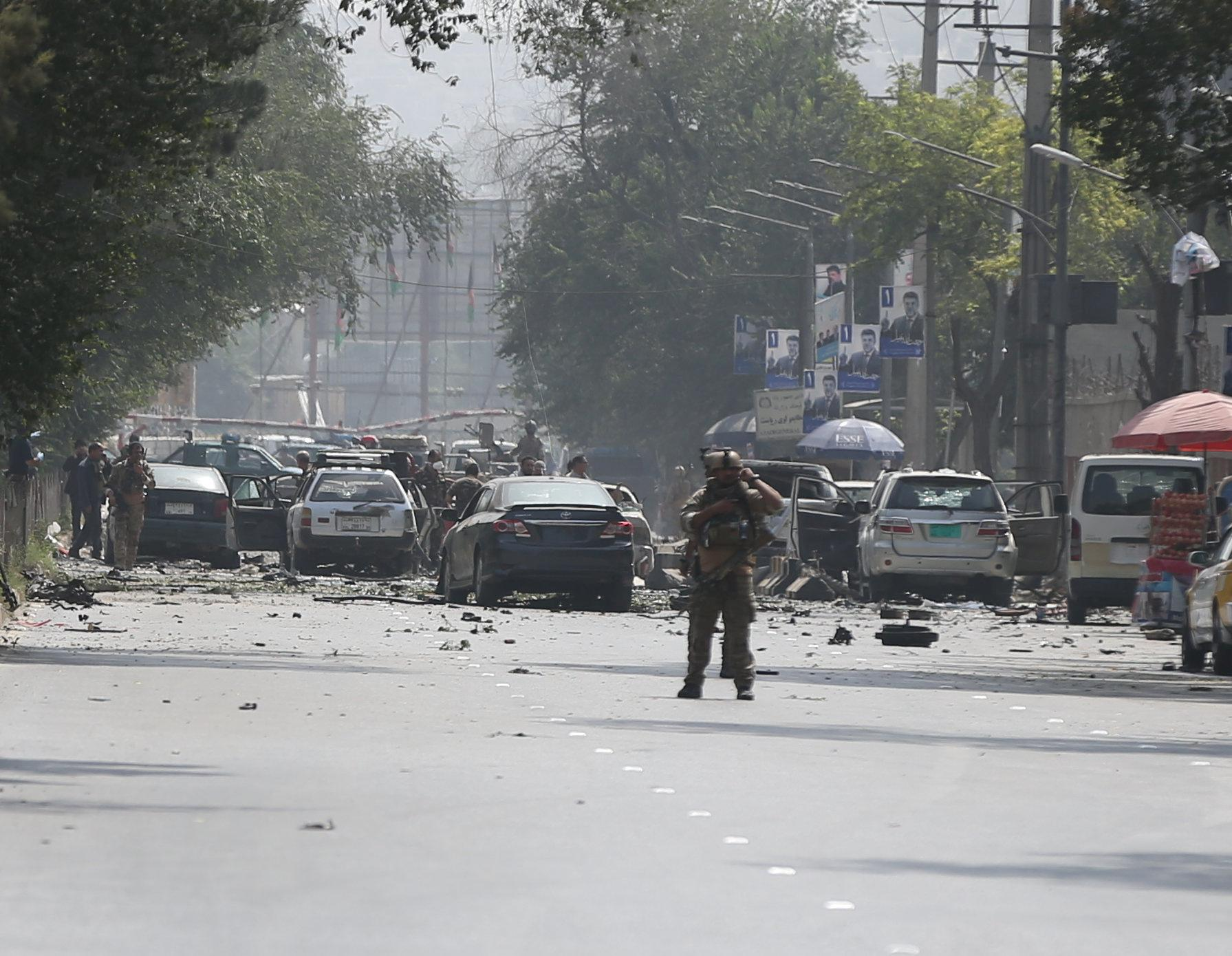 Taliban suicide bomber kills at least 10 civilians, two NATO troops in Kabul