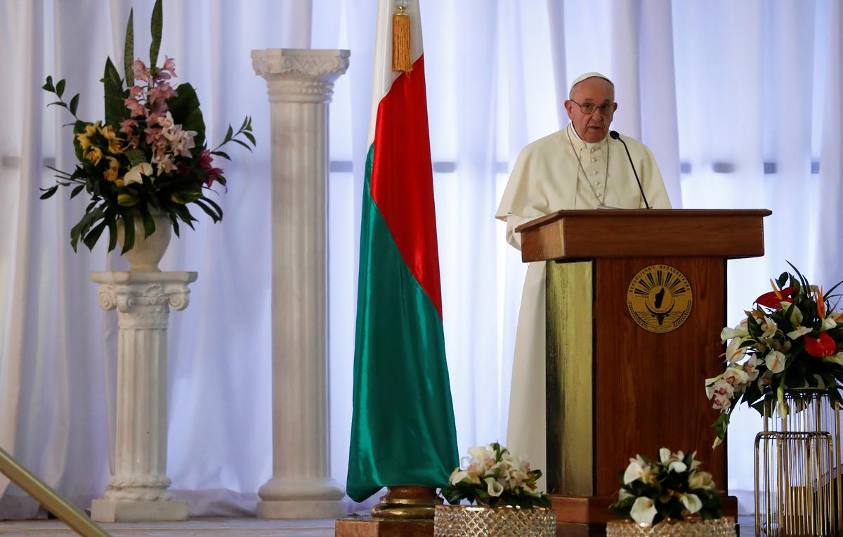 Deforestation must be seen as global threat: pope in Madagascar