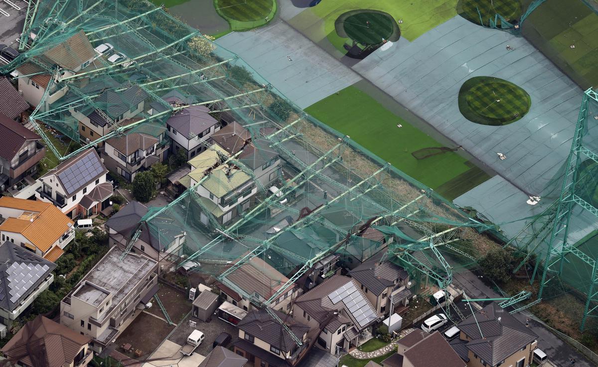 Typhoon strooi Japanse hoofstad, een dood, krag, vervoer ontwrig