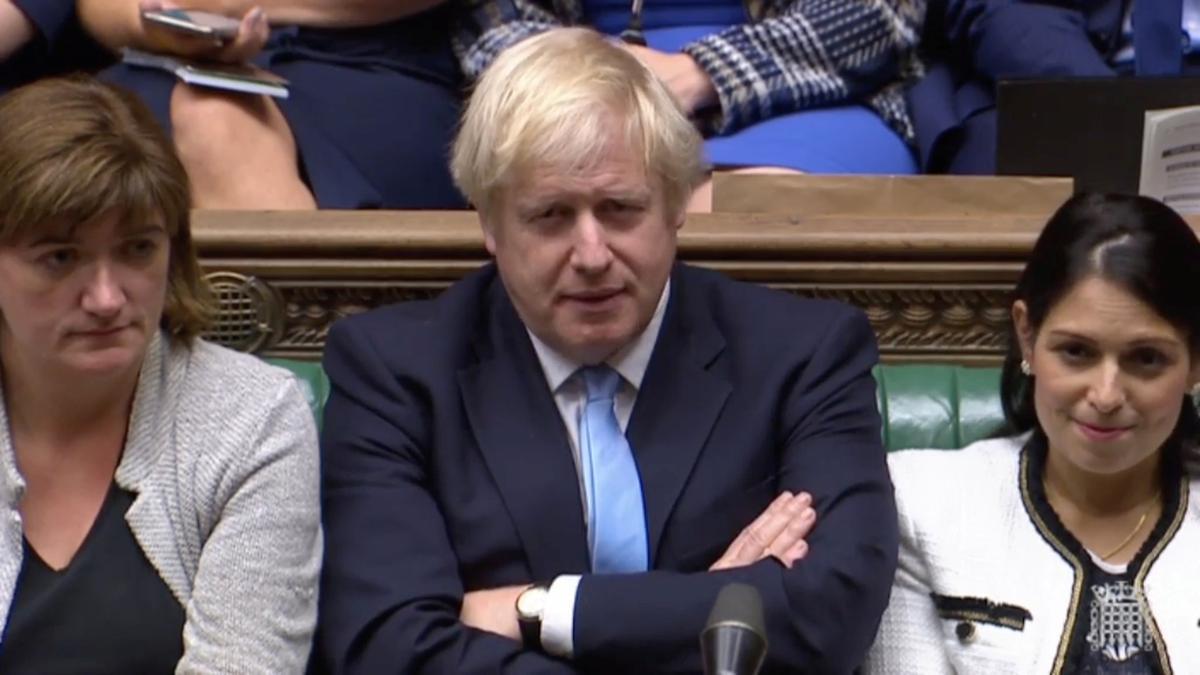 Die Britse premier Johnson het aan die parlement gesê: U kan my hande vasbind, maar ek sal Brexit nie uitstel nie