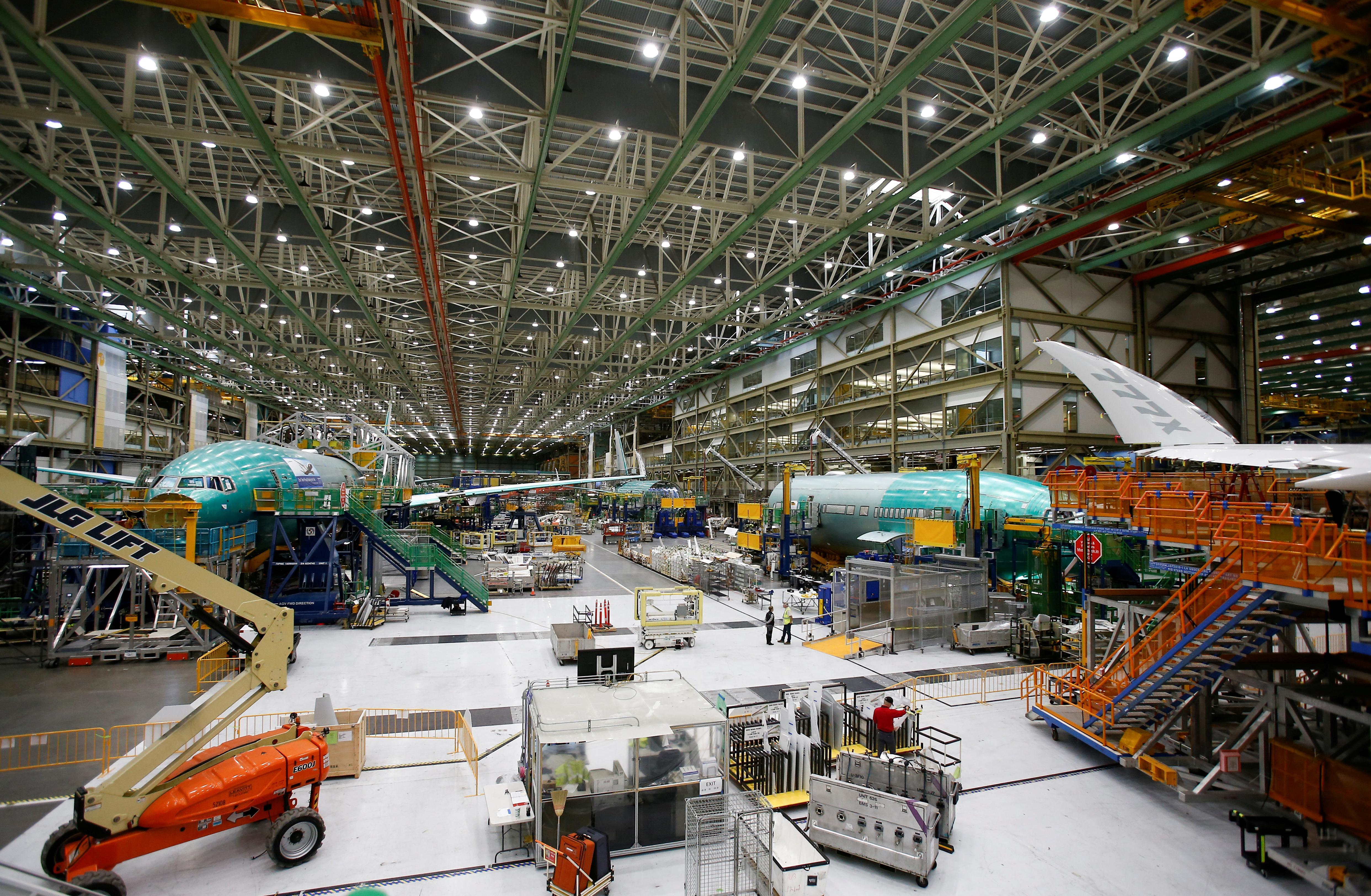 Boeing says depressurization issue led to suspension of 777X load...