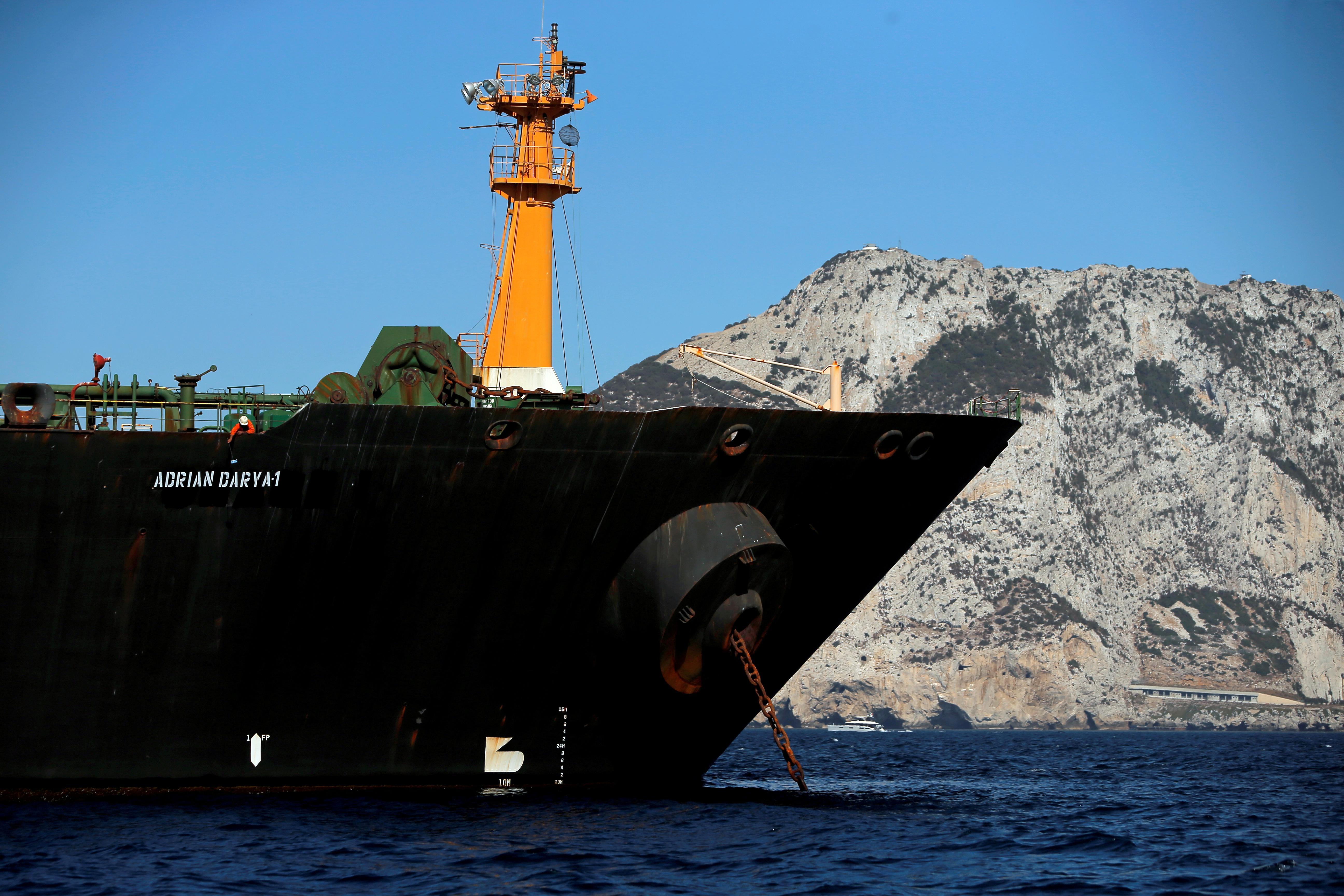 Iran says tanker oil sold at sea, buyer sets destination