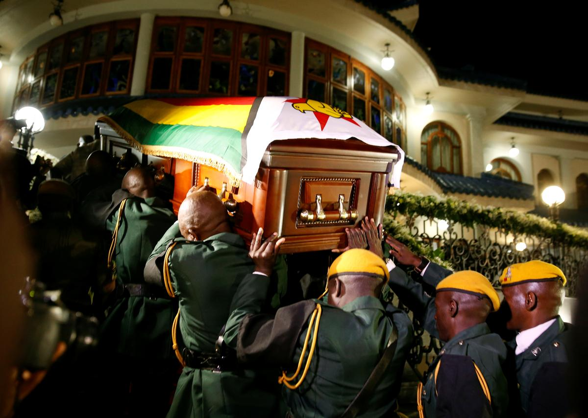 Image result for Mugabe's body brought home but Zimbabweans unsure of his burial place