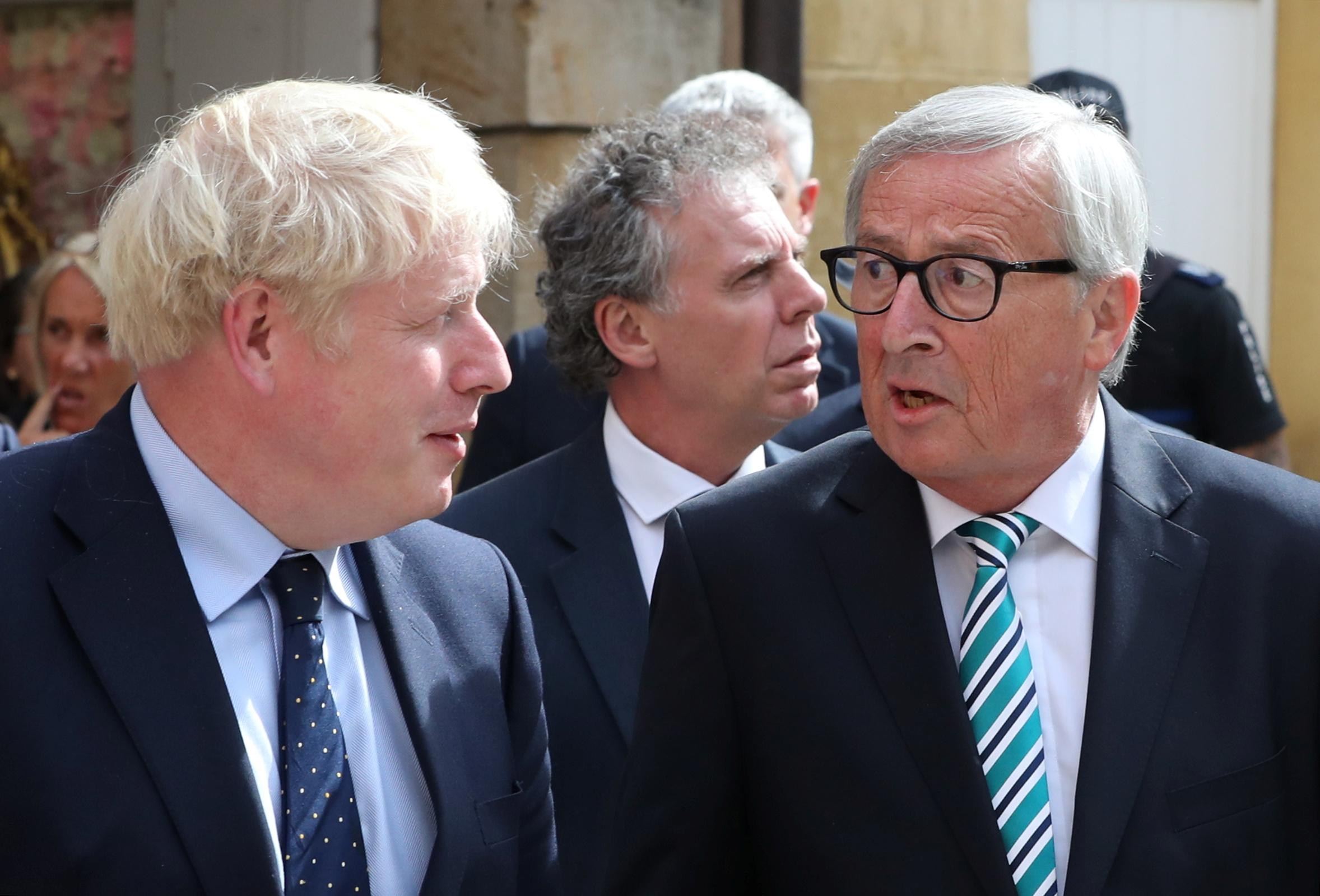 UK's Johnson buffeted in Luxembourg, says Brexit deal emerging