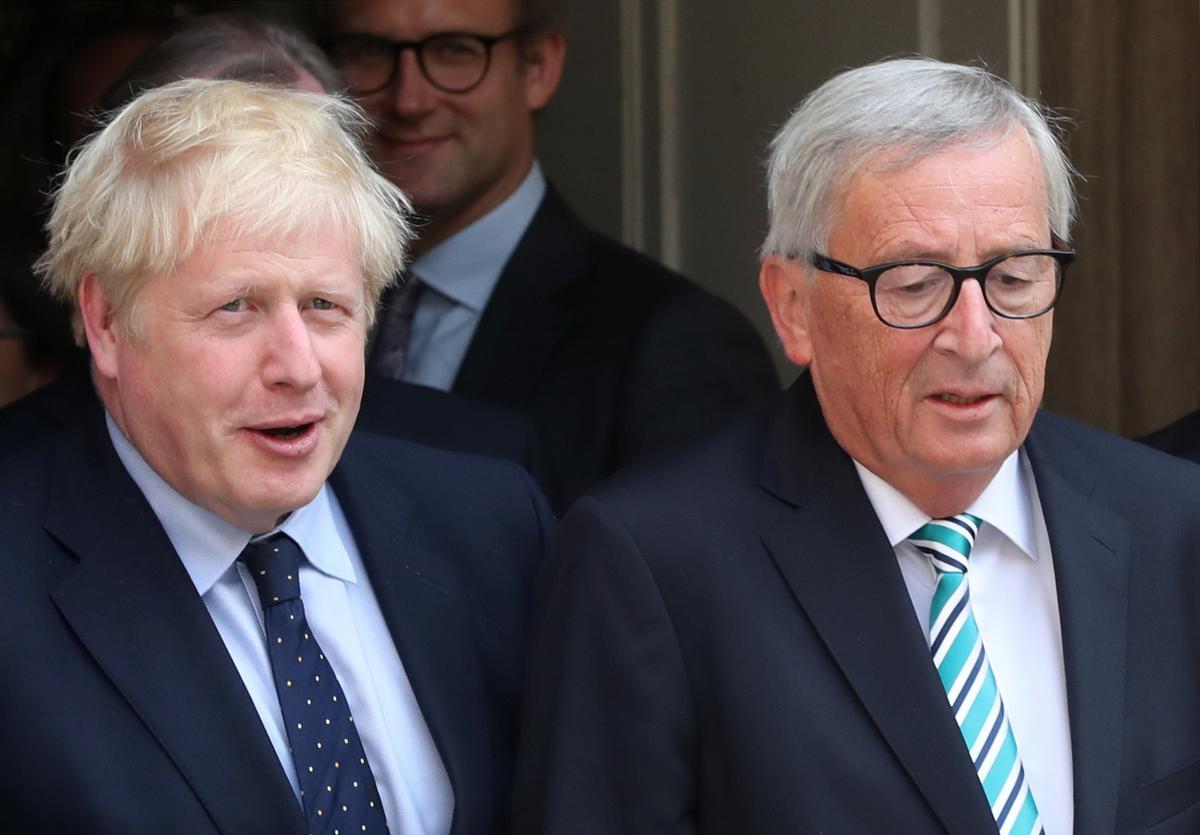 EU se Juncker aan premier Johnson: Brittanje moet voorstelle maak om backstop te vervang