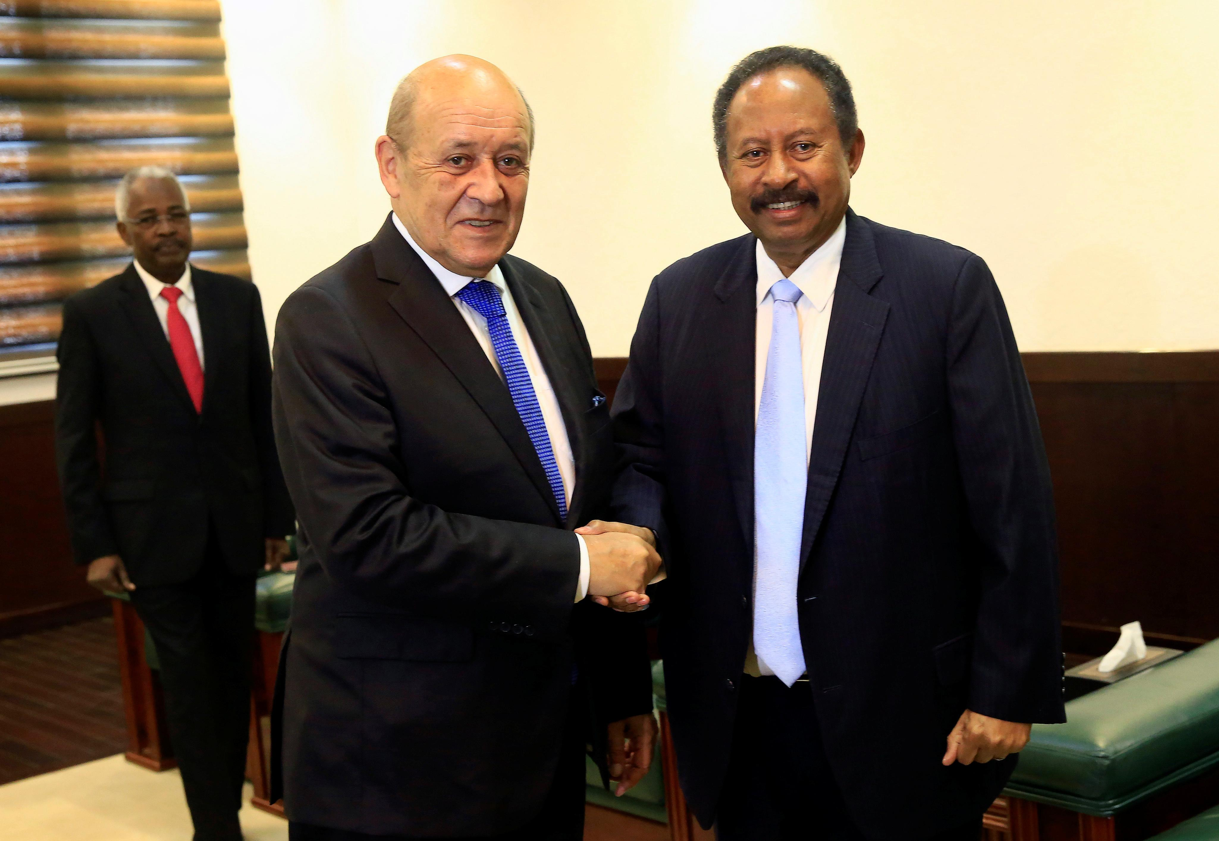 France's foreign minister pledges support for 'new Sudan'