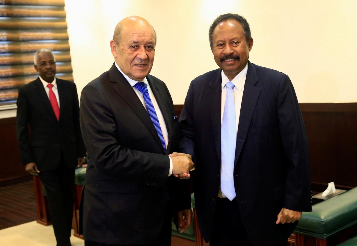 Frankryk se minister van buitelandse sake belowe steun vir 'nuwe Soedan'
