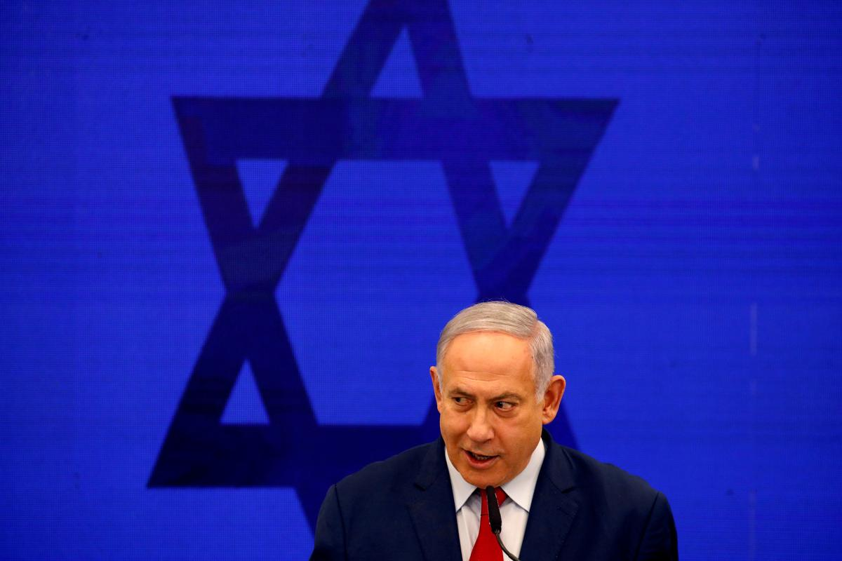 Netanyahu's election day a wall-to-wall political commercial